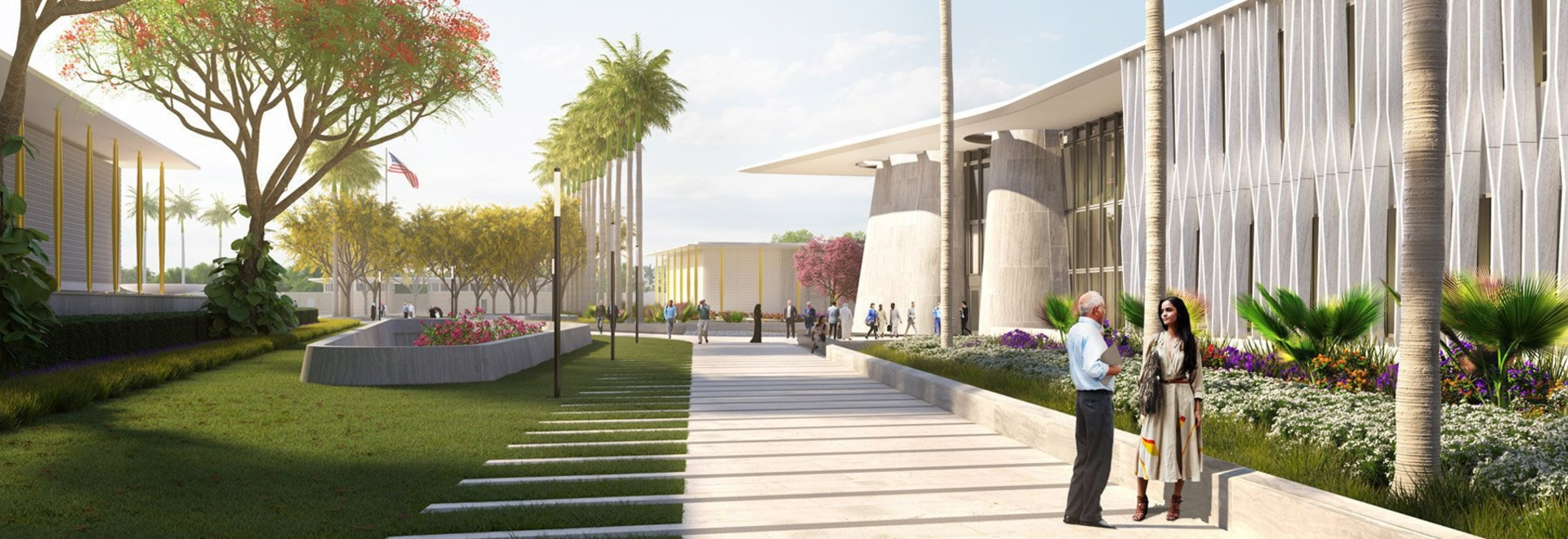 weiss/manfredi reveals design for the US embassy in new delhi