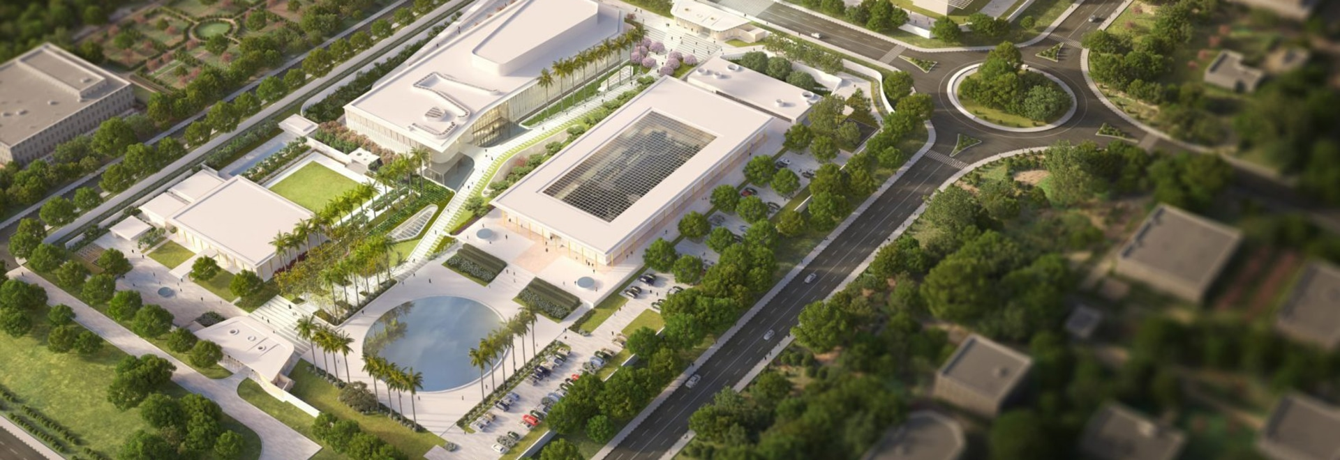 Weiss Manfredi unveils masterplan for New Delhi's modernist US Embassy
