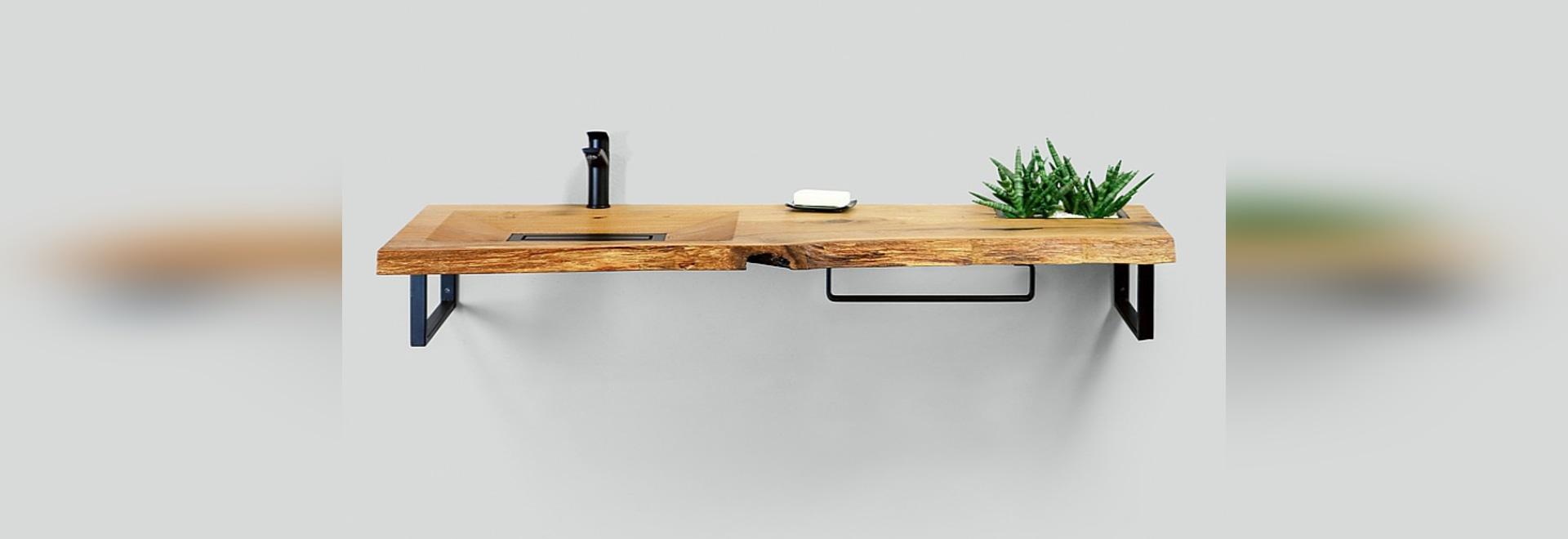 Wooden Washbasin CONE Holzwaschtisch CONE