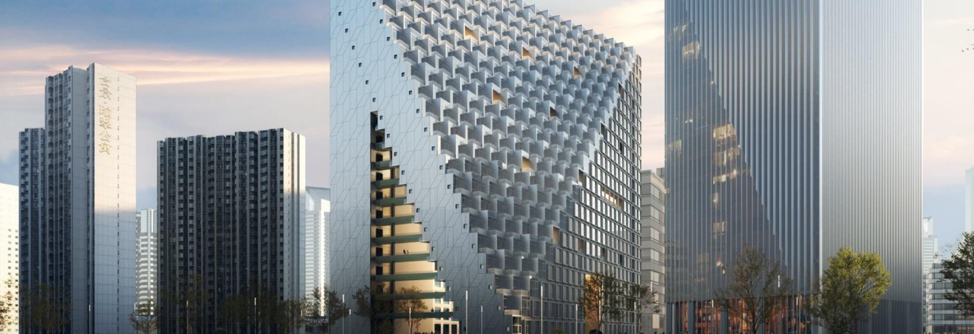 Xinhu Hangzhou Prism by OMA / Chris van Duijn breaks ground