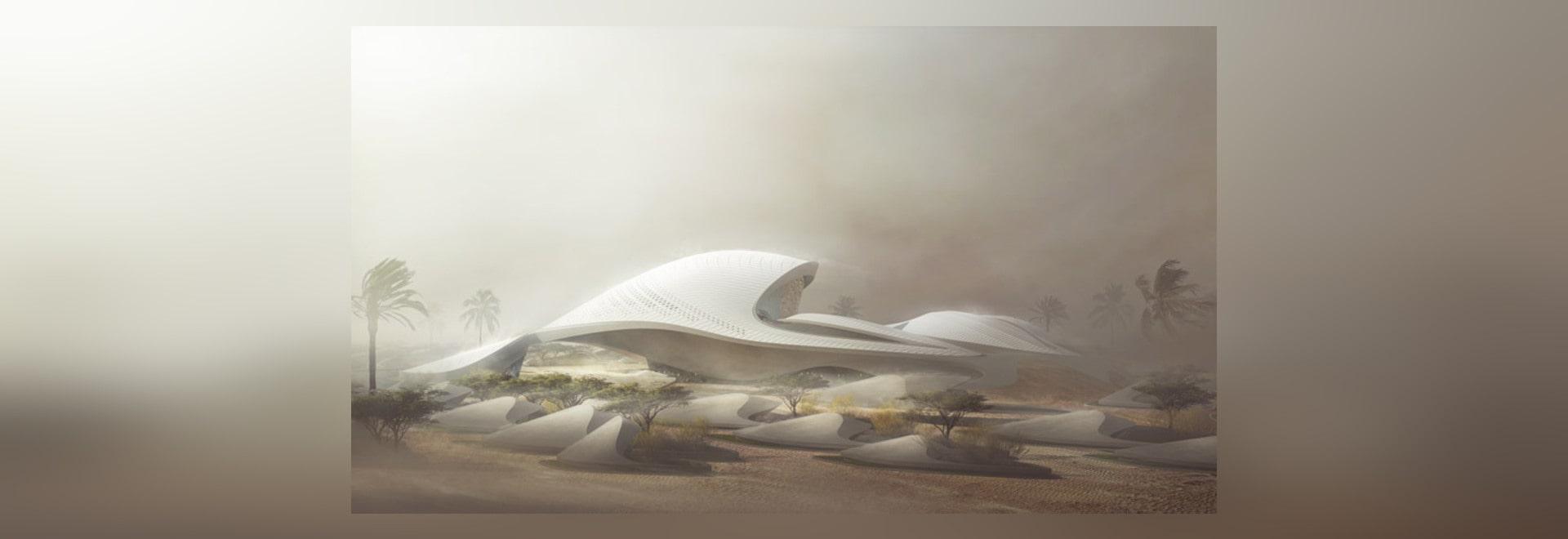 Zaha Hadid designs dune-inspired headquarters for environmental firm