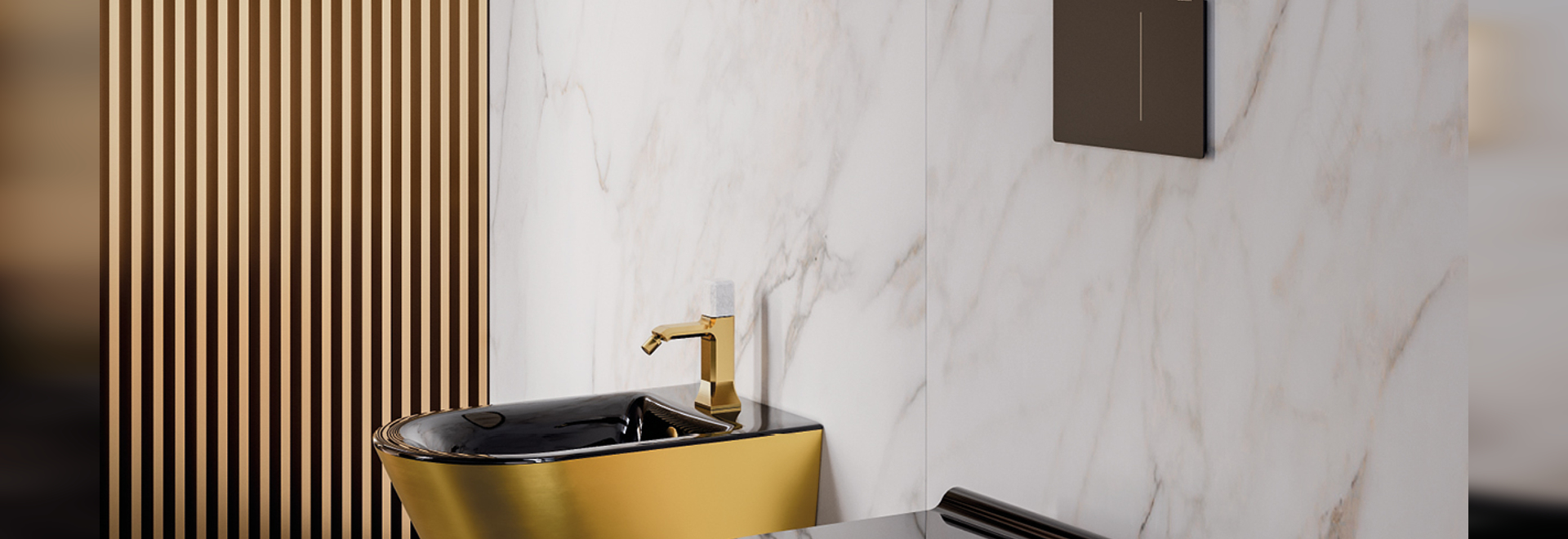 Zero Wc Newflush | Bidet Soft 55 Gold-Black