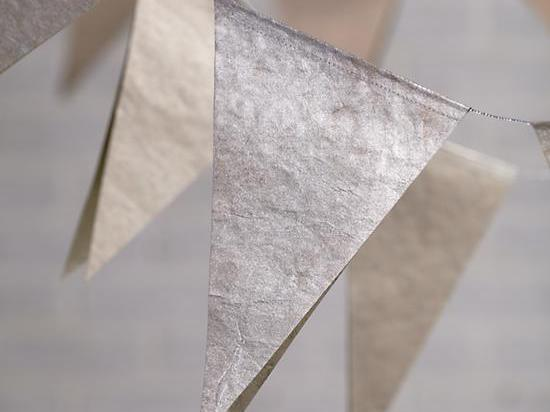 Metallic pennant garland from Land of Nod