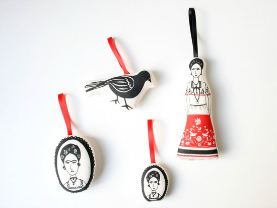Frida Kahlo ornaments from Miko Design
