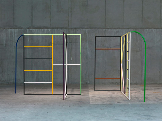 Untitled (Monday & Tuesday), 2013 (steel, lacquer 220 x 250 x 150 cm each)