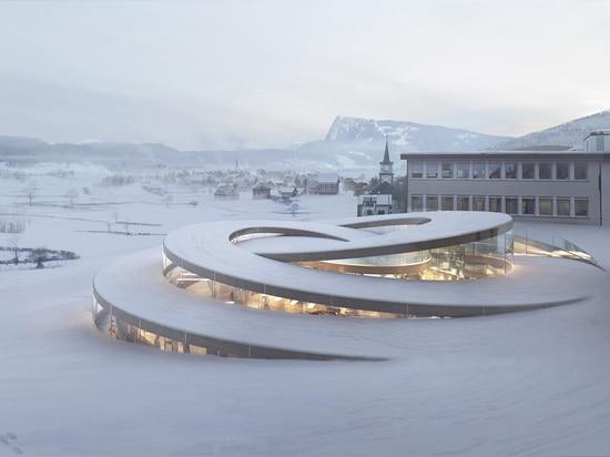 La Maison des Fondateurs by BIG Architects (La Brassus, Switzerland, in progress)