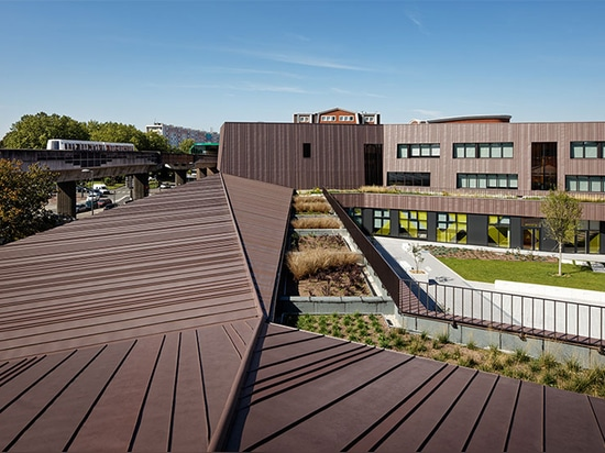 chartier dalix architectes builds green-roofed rosalind school and dormitory