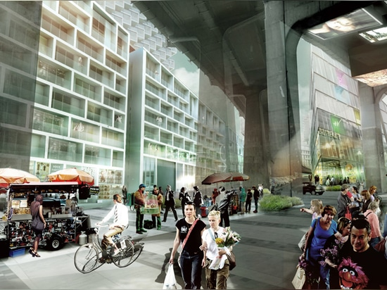 """BIG's Vancouver House aims to transform motorway flyover into a """"wonderful civic space"""""""
