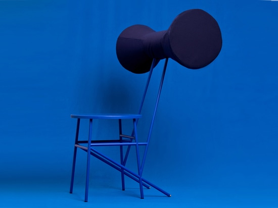 Kevin Hviid's chair collection includes one resembling a giant bow tie