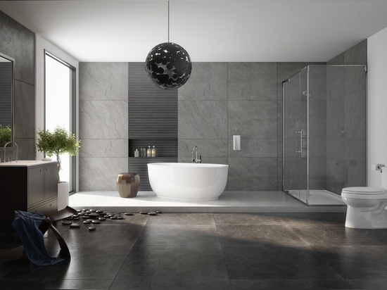 It's easy to fall in love with this bathroom. This round tub features a slightly curled rim and a defined bottom edge. The smallest details make all the difference in a space characterized by its s...