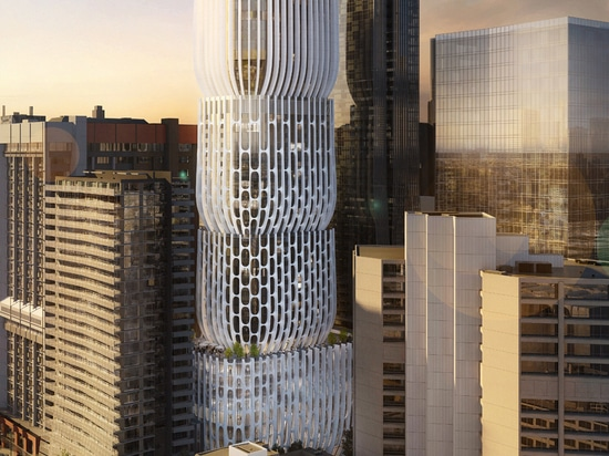 """Zaha Hadid plans Melbourne skyscraper made up of stacked """"vases"""""""