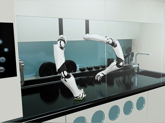 once finished cooking, the robotic arms would clean as well