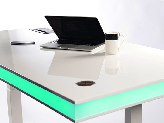 table air utilizes integrated smart sensor to alter desk height