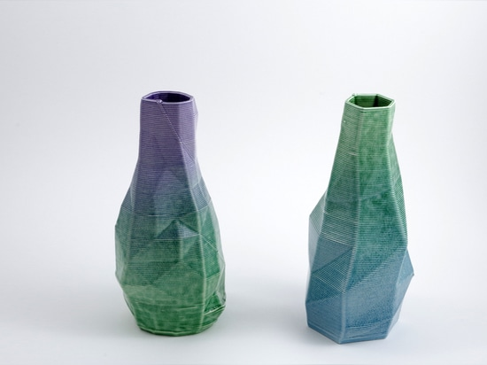 These 3D printed ceramics are baked and glazed using ancient techniques.
