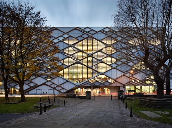 Twelve Architects applies diamond-patterned facade to Sheffield university building