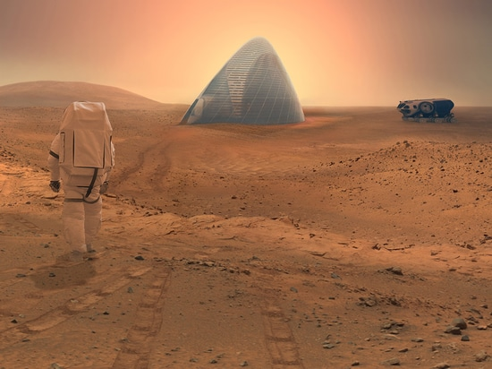 This proposal by Clouds AO and SEArch was the winner of NASA's recent competition to design 3D-printed housing for Mars