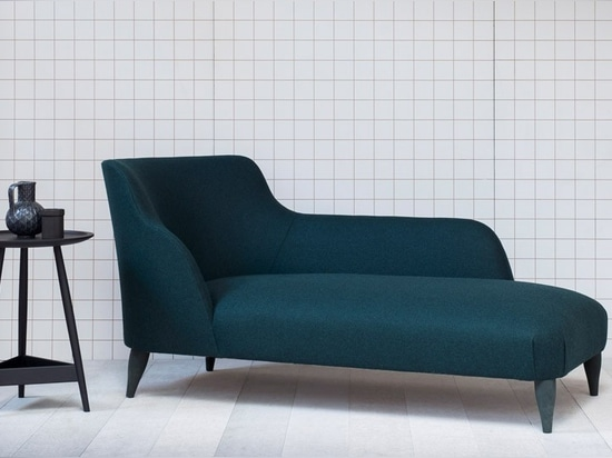the 'leta' chaise is a sensual and sculptural piece