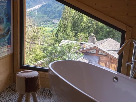 bathroom overlooking the picturesque surroundings