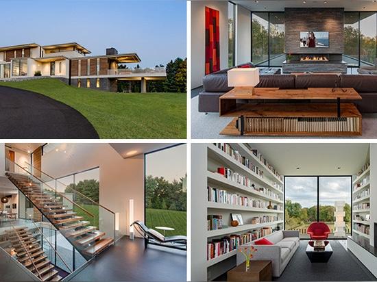 A hillside home in the suburbs of Washington D.C.