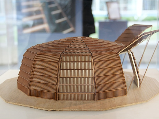 'the haystack' is comprised of 12 identical wooden modules