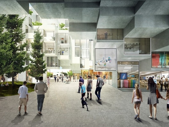 ground floors will include a range of mixed-use programs