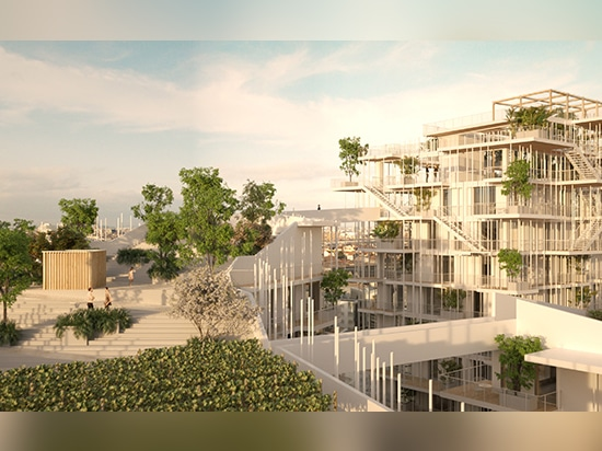 four rooftop gardens are connected horizontally