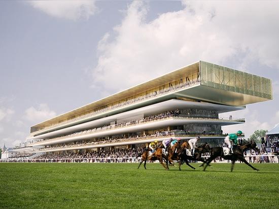dominique perrault begins renovation work at paris' longchamp racecourse