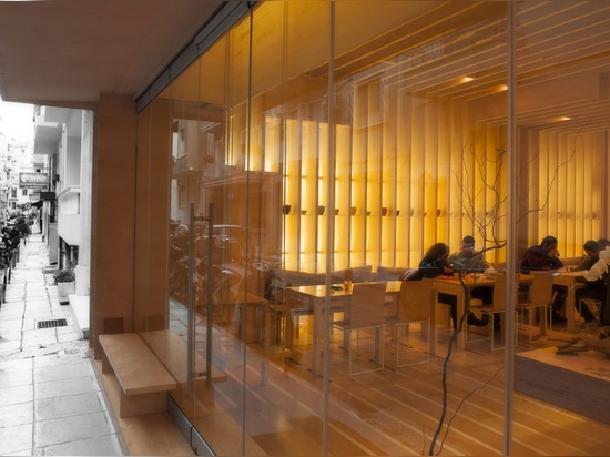 The To Tsai teahouse in Athens has an atmosphere as refreshing as its tea thanks to architectural firm Georges Batzios