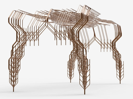 Stefan Bassing produces furniture from combinations of identical steel rods