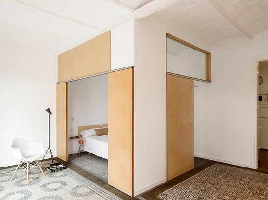 the design team sought to uncover the dwelling's ceramic floor tiles