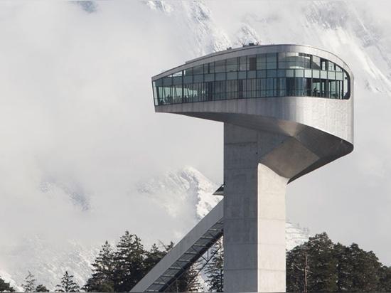 bergisel ski jump, innsbruck, austria, (2002) / image courtesy of bergisel betriebsgesmbH