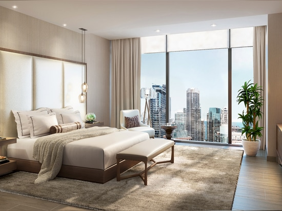 more than 20 penthouses will occupy the top levels, with one two-level penthouse suite