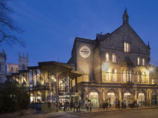 London based architects De Matos Ryan have completed renovation works at York's Theatre Royal, which they were commissioned to redesign to bolster both appeal and revenue. Pictured: an artist's imp...