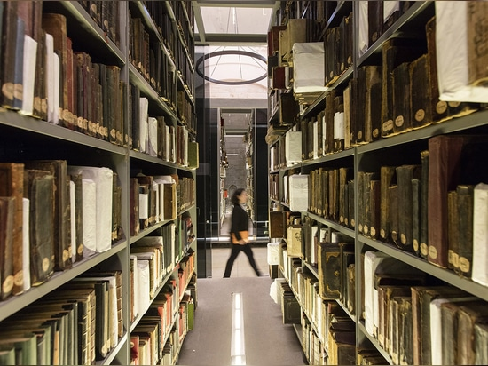 The structures provide optimum storage conditions for archaic books and manuscripts