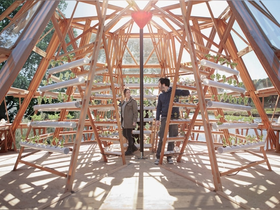 the design is built using low-cost technologies and simple materials