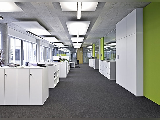 Modern glass partitions at Kessler + Co