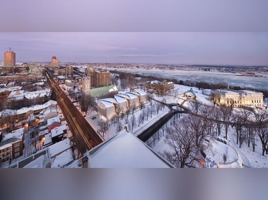Allied Works' proposal for a new pavilion for Musée national des beaux-arts du Québec features five interlocking, cantilevered concrete shells