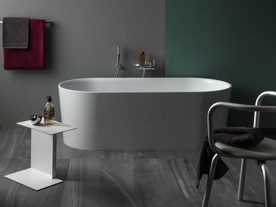 VAL free-standing bathtub by LAUFEN