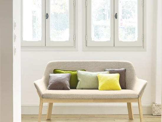 NEW: contemporary upholstered bench by Alki