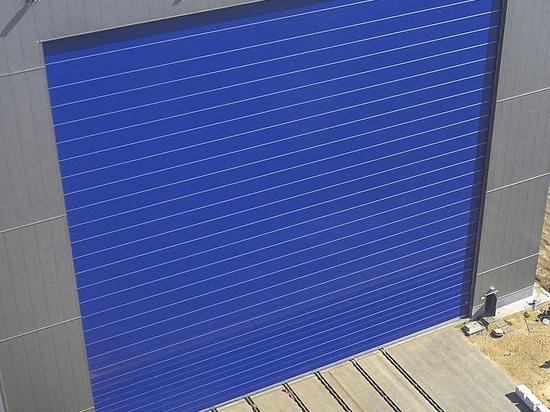shipyard industrial door / roll-up / in textile / metal