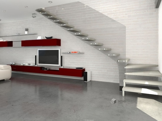 NEW: quarter-turn staircase by Scale nilur