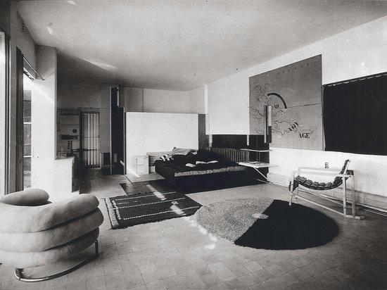 Living room in e1027, Roquebrune-Cap-Martin, Alpes Maritimes, France. 1926-1929.