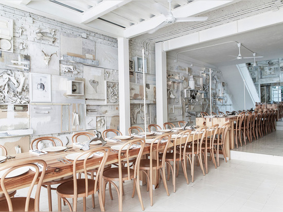 Animal bones adorn the walls of Hueso Restaurant in Mexico