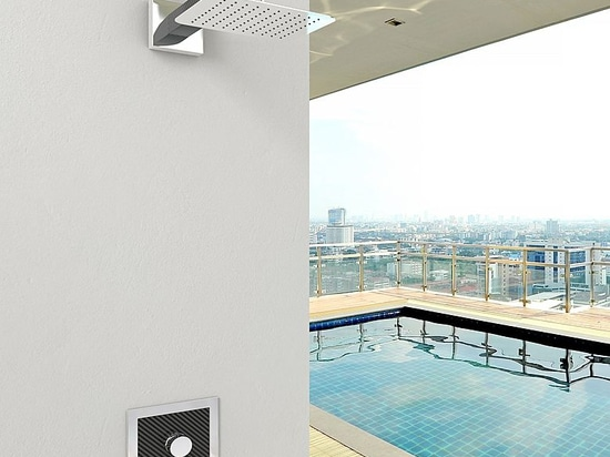 Sanremo - the new Carbon Fiber Shower for outdoor and indoor by Inoxstyle