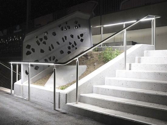 Handrail LED Lighting - The mix of noble materials and technology…