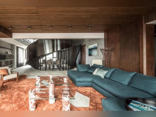 "Xintiandi Penthouse by Joyce Wang is ""a celebration of metal"""