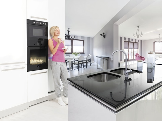 Make a statement with your kitchen design - Chili Fire - new fireplace from Planika