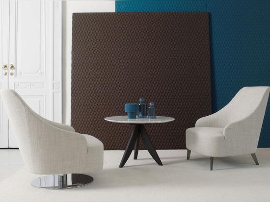 NEW: Emilia contemporary armchair by BERTO SALOTTI