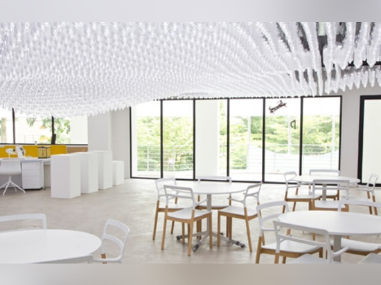 """Singapore university research centre ceiling consists of """"6,000 moveable lights"""""""