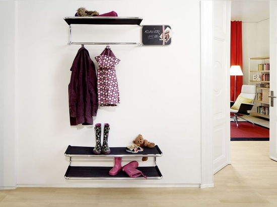 NEW: wall-mounted shelf by THONET